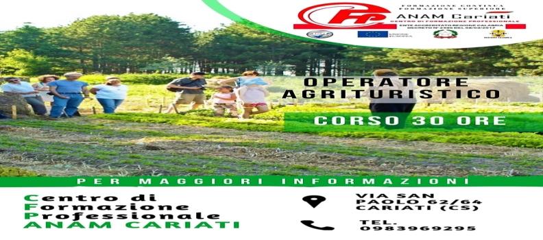 Corso OPERATORE AGRITURISTICO